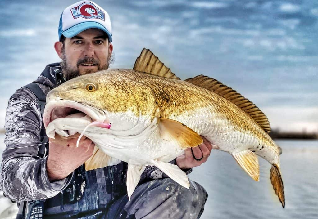 Captain Patric Garmeson Bull redfish lil slick